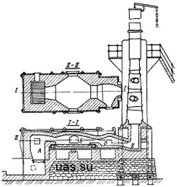 Схема печи показана на рисунке
