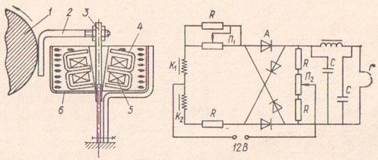 Схема индуктивного датчика и